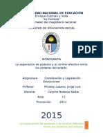 Monografia Constitucion y Legislacion Educacionalss