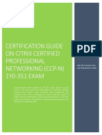 Certification Prep Guide on Citrix Certified Professional Networking (CCP-N) 1Y0-351 Exam