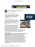 Why Firms Hire Their Employees' Friends