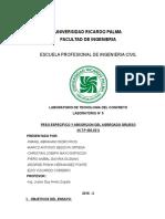 Informe Tecno Peso Especifico Agregado Grueso