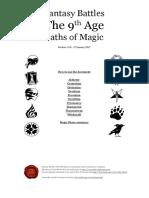 Ninth Age Rules - Paths of Magic