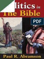 Politics in the Bible Paul R. Abramson ISBN-10