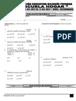 Examen de Secundaria - Quimica