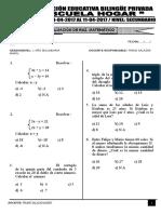 Examen de Secundaria - Raz. Matematico