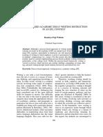 Process Based Academic Essay Writing Instruction in an EFL Context Handoyo Puji Widodo