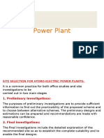 Site Selection for Hydro Electric PP