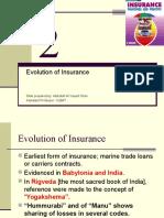 Chapter 2 [Evolution of Insurance]