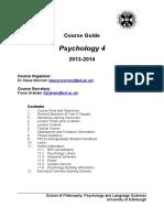 Y4 Course Handbook 2013 14