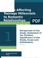 Factors Affecting Teenage Millennials to Romantic Relationships Defense Presentation