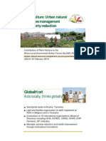Urban Natural Resources Management for Poverty Reduction