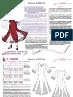 Instrucciones de Costura Vestido Flamenco MJ1053V