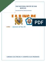 Informe  2- Cargas Eléctricas y Cuerpos Electrificados m