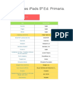Aplicaciones Pre-Instaladas IPads 5º