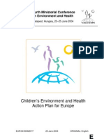 Children's Environment and Health Action Plan for Europe