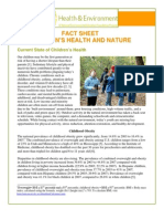 Children's Health and Nature Fact Sheet