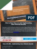 Pass your Cisco 210-260 Exam With (Testmayor.com)