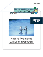 Nature Promotes Children's Growth