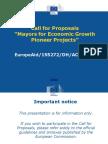 Presentation Call for Proposals M4EG