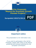Presentation Call for Proposals M4EG