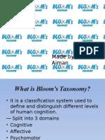 Bloom taxanomy