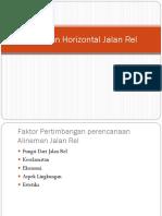 Jalan Kereta API 11 -Alinemen Horizontal Jalan Rel
