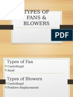 Types of Fans Blowers