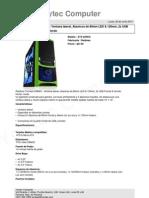 Raidmax Tornado 238WG - Ventana Lateral, Abanicos de 80mm LED & 120mm, 2x USB
