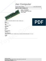 Super Talent 2gb Ddr3 Dimm Pc3-10600 (1333mhz) Cl9