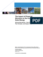 The Impact of Financial Structure on the Cost of Solar Energy