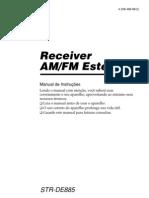 Manual Receiver Sony Str De885