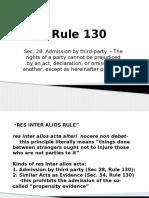 Evidence Rule 130 Power Point Presentation