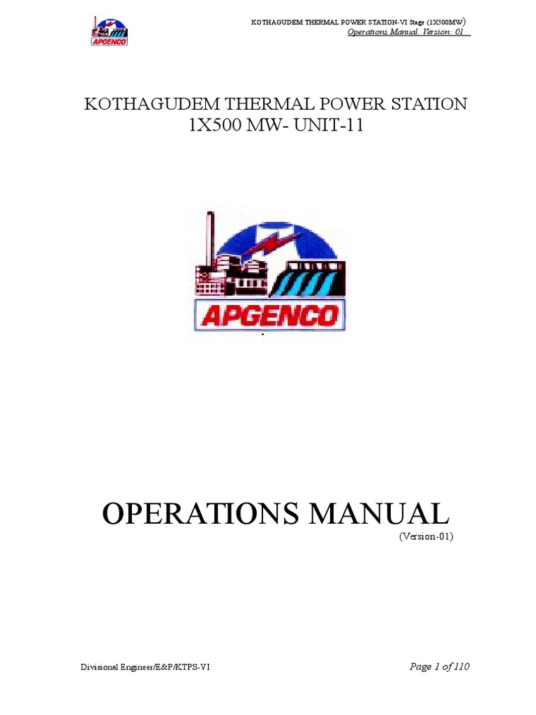 Operations Manual-ktps, version01 .doc | Mains Electricity | Alternating  Current