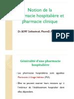 1-Notion de La Pharm Hosp Et Pharm Clin