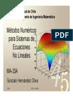 Capitulo 4 Sistemas de Ecuaciones No Lineales