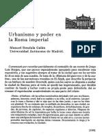 Urbanismo y Poder en La Roma Imperial