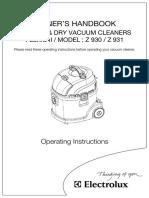 Electrolux z931 Manual