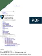 Part 1 MRCOG_ Revision Resources
