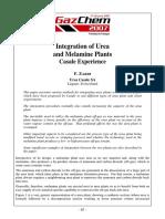 Gazchem 2007 Trinidad Integration of Urea and Melamine Plants Casale Experience