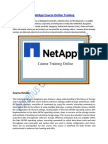 Enhance your Skills on Net App Technology