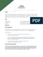 Sample Resume - MBA - Google Docs