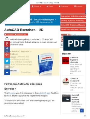 AutoCAD Exercises (Free eBook) - Tutorial45   Microsoft Excel