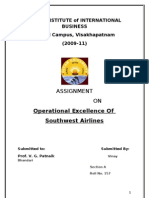 Operational Excellence of Southwest Airline