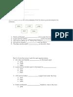 Pre Test Paper