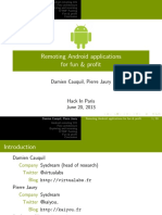 Remoting Android Applications for Fun and Profit
