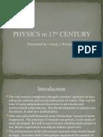 Physics in 17th Century