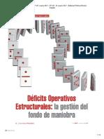 Déficits Operativos Estructurales