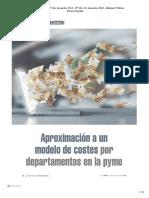 Modelo costes por departamentos en la pyme