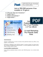 Email Marketing - Lista 350000 Mail Italiane - Web Marketing - Vendi Il Tuo Prodotto