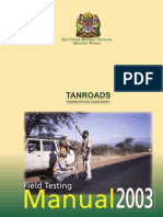 Tanzania - Road Field Testing Manual - 2003