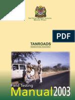 Tanzania - Road Field Testing Manual - 2003